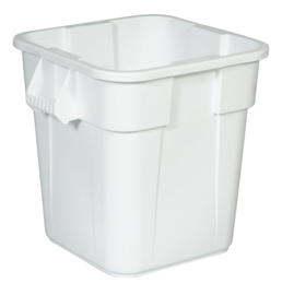 Ronde Brute container, Rubbermaid wit - 106 liter