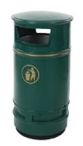 Afvalbak Copperfield groen - 90 liter