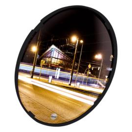 Multifunctionele spiegel Polymir rond 400mm ZWART