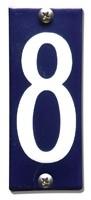 Emaille huisnummerbord HK-B8 40x100mm
