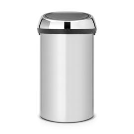 Touch Bin, Brabantia metallic grijs- 60 liter