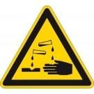 Waarschuwingsbord bijtende ( corrosieve ) stoffen