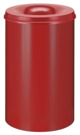 Vlamdovende papierbak rood - 110 liter