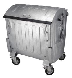 Container staal verzinkt - 1100 liter