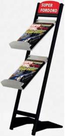 Floor brochure rack Rapid t.b.v. 2 x A4