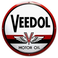 Emaille bord Veedol rond 500mm