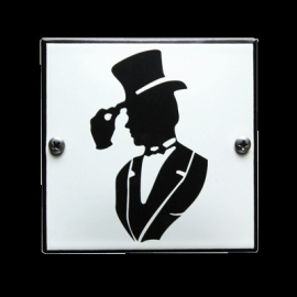 Emaille toiletbord-08 100x100mm