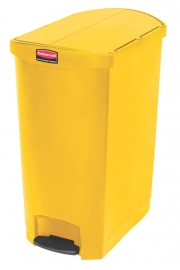 Slim Jim Step On container End Step kunststof, Rubbermaid geel - 90 liter