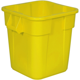 Ronde Brute container, Rubbermaid geel - 106 liter