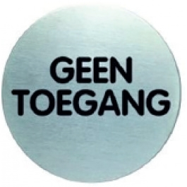 RVS pictogram geen toegang-1 rond 83mm