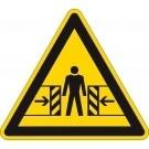Waarschuwingsbord beknellingsgevaar