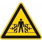 Waarschuwingssticker beknellingsgevaar
