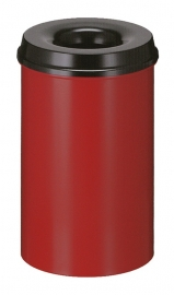 Vlamdovende papierbak rood/ zwart - 20 liter