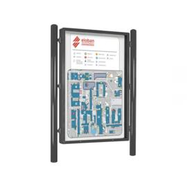 vitrine Vega 1210x1760mm enkelzijdig