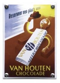 Emaille NK-23-HO van Houten chocolade 100x140mm