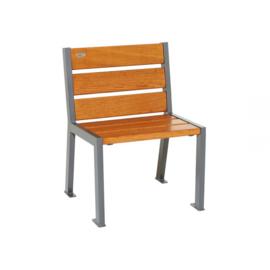 stoel Silaos eikenhout zonder armleuning