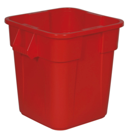 Ronde Brute container, Rubbermaid rood - 106 liter