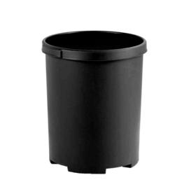 Ronde papierbak zwart - 50 liter