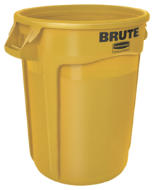 Ronde Brute container, Rubbermaid geel - 121,1 liter