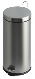 Pedaalemmer mat RVS - 30 liter