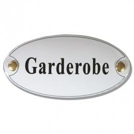 Emaille naamplaatje Garderobe