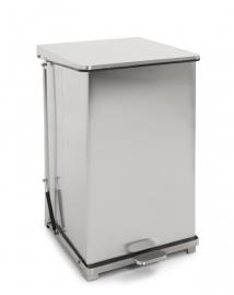 Industriële pedaalemmer mat RVS - 152 liter