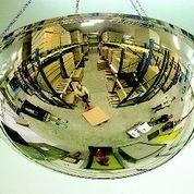 Panoramische binnenspiegel plexiglas rond 660mm halve bol