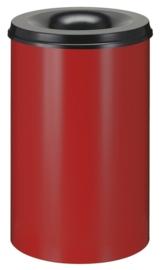 Vlamdovende papierbak rood/ zwart - 110 liter