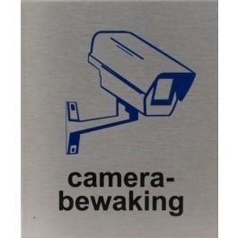 RVS pictogram camerabewaking 100x120mm