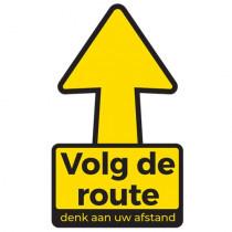 Vloersticker 'Volg de route' - Verwijderbaar - 30x30 cm ( set 10 stuks )