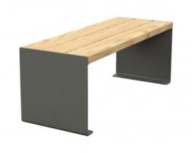 zitbank KUBE hout en staal 450x450mm