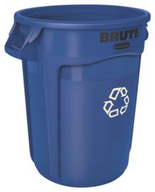 Ronde Brute container, Rubbermaid blauw - 121,1 liter