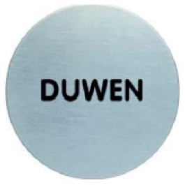 RVS pictogram duwen rond 83mm