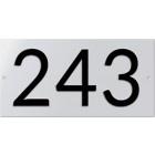 Huisnummerbord NEN 1774 240x120mm geperst aluminium