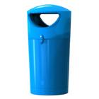 Afvalbak Metro Hooded blauw - 100 liter