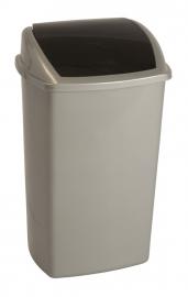 Afvalbak antraciet deksel zwart - 50 liter ( set 12 stuks )