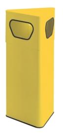 Driehoekige papierbak geel - 50 liter