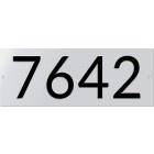 Huisnummerbord NEN 1774 320x120mm geperst aluminium