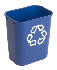 Rechthoekige afvalbak  blauw, Rubbermaid - 12,9 liter