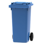 Mini container blauw - 120 liter