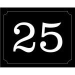 Huisnummerbord A-152 220x160mm emaillelook