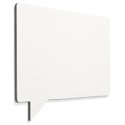 Frameless whiteboard tekstballon 580x880mm wit