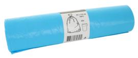 Afvalzakken 80x110x0.016 sterk V-part blauw LDK ( 250 stuks )
