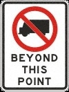 beyond this point 600x800mm DOR