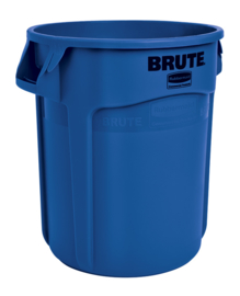 Ronde Brute container, Rubbermaid blauw  - 75,7 liter