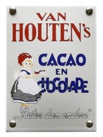 Emaille NK-22-HO van Houten chocolade 100x140mm