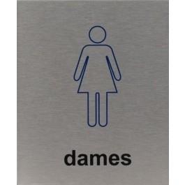 RVS pictogram dames 100x120mm