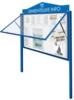 vitrine Klassiek hefdeur op gasveren 1600x1130x58mm
