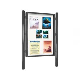 vitrine Vega 1200x1600mm enkelzijdig