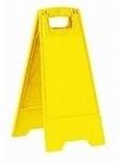 Waarschuwings klapbord 330x320x640mm blanco geel